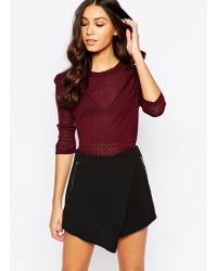 Girls On Film - Knitted Top - Lyst