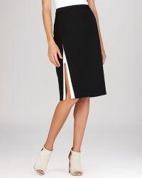 BCBGMAXAZRIA Pencil Skirt - Grayce Contrast Trim - Lyst