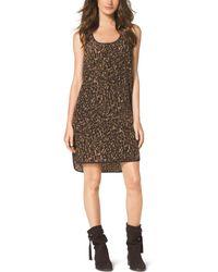 Michael Kors Animal-Print Tank Dress - Lyst