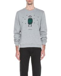 Carven Little Man Cotton Sweater - Lyst