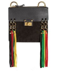 Chlo�� Jane Mini Tasseled Suede \u0026amp; Leather Bracelet Crossbody Bag in ...