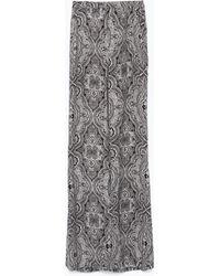 Zara High Waist Flared Trousers - Lyst