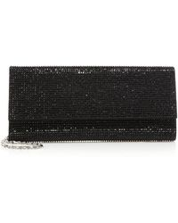 Judith Leiber Ritz Fizz Swarovski Crystal and Satin Clutch black - Lyst