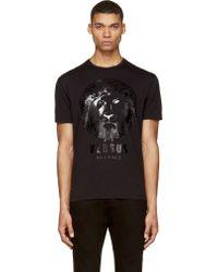 Versus  Black Lion Logo T_shirt - Lyst