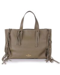 Valentino Fringed Tote Bag - Lyst