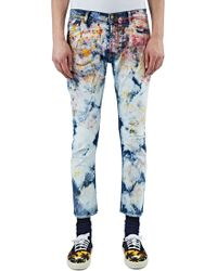 James Long - Men's Slim Tie-dye Painted Jeans In Multicolour - Lyst
