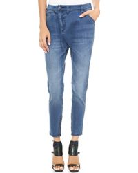 Camilla & Marc Free Loader Jeans Distressed Blue - Lyst