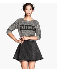 H&M Denim Skirt - Lyst