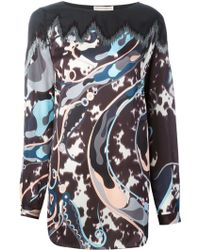 Emilio Pucci Abstract Print Embellished Blouse - Lyst