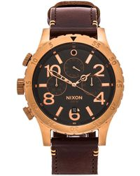 Nixon The 48-20 Chrono Leather - Lyst