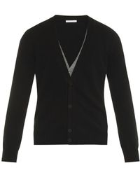 Tomas Maier Double-layer Cashmere Cardigan - Lyst