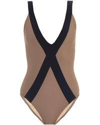 Zeus + Dione Amorgos Bi-Colour Swimsuit - Lyst