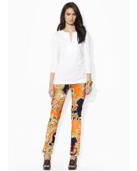 Lauren by Ralph Lauren - Slim Print Trousers - Lyst