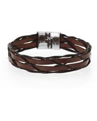 B5 Line Nyc - Brown Double Stitcher Bracelet - Lyst