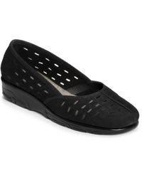 Aerosoles Black Utmost Wedges - Lyst