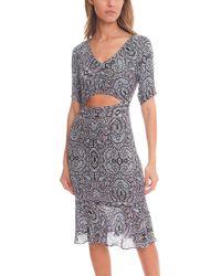 Charlotte Ronson | Paisley Print Midriff Dress | Lyst