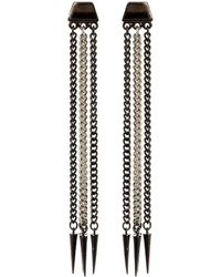 Ben Amun Two Toned Spike Earrings - Lyst