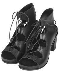 Topshop Natter Footbed Heeled Sandals - Lyst