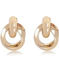 River Island Gold Tone Glam Knot Earrings - Lyst