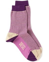 DIESEL - Striped Cotton-Blend Socks - Lyst