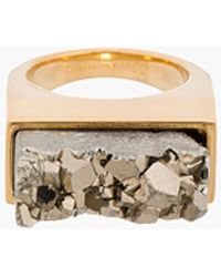 Chloé Gold Faceted Stone Bettina Ring - Lyst