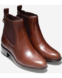 Cole Haan Newburg Waterproof Bootie (40Mm) brown - Lyst