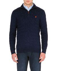 Ralph Lauren Cable-knit Silk Jumper - For Men - Lyst