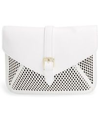 Big Buddha - Perforated Faux Leather Crossbody Bag - Lyst