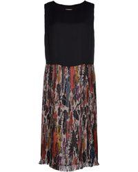 Dries Van Noten 3/4 Length Dress black - Lyst