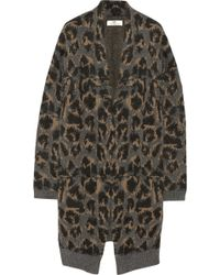 Day Birger Et Mikkelsen Leopard Patterned Knitted Cardigan - Lyst