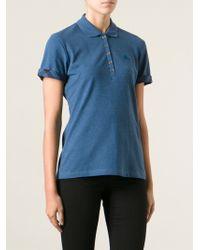 Burberry Brit Check Trim Polo Shirt - Lyst