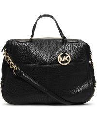 Michael Kors Shelley Studded Leather Large Satchel - Lyst