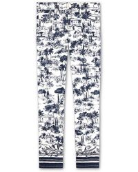Tory Burch Printed Cropped Jeans blue - Lyst