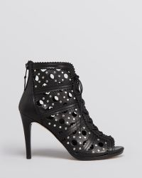 Stuart Weitzman Lace Up Booties - Cagey High Heel - Lyst