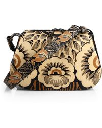 Valentino Covered Floral Shoulder Bag - Lyst