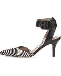 Sam Edelman Okala Zebra-print Ankle-wrap Pump - Lyst