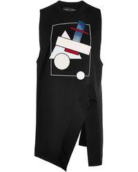 Proenza Schouler Sleeveless Bonded Graphic Jersey Asymmetric Top - Lyst