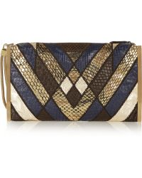 Lanvin Private Python, Ratsnake And Elaphe Clutch - Lyst