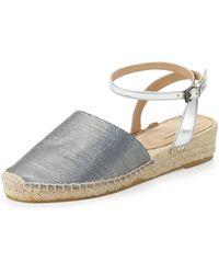 Reed Krakoff - Metallic Anklewrap Espadrille Flat - Lyst
