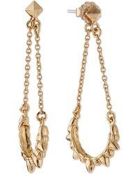 Pamela Love Tribal Spike Chain Drop Earrings - Lyst
