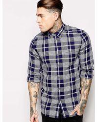 Diesel Shirt S-Zoeno Indigo Check - Lyst