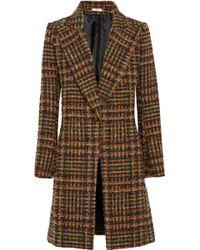 Bouchra Jarrar - Checked Wool-blend Tweed Coat - Lyst