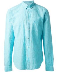 Burberry Brit Blue Pinstriped Shirt - Lyst