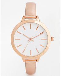 Asos Large Face Metallic Watch - Lyst