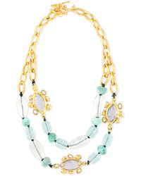 Alexis Bittar Crystal Flippable-Station Bib Necklace - Lyst