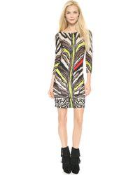 Just Cavalli Tiger Print Dress Natural - Lyst
