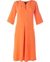 Saloni Dita Crepe Dress - Lyst