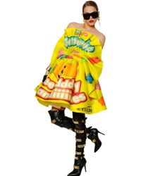 Moschino Candies Printed Heavy Silk Organza Dress - Lyst