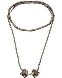 Erickson Beamon Long Encrusted Necklace - Lyst