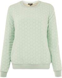 Raoul - Mint Crochet Lace Sweatshirt - Lyst